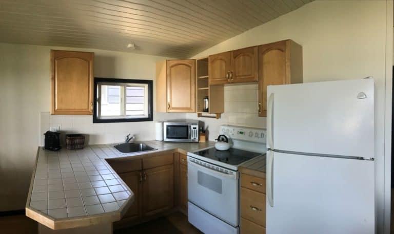 MacKenzie Beach Resort cabin kitchen