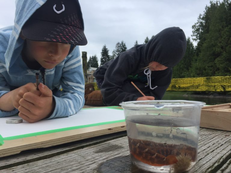 youth at art camp in Tofino