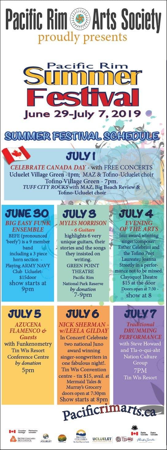 Pacific Rim Summer Festival 2019 Schedule