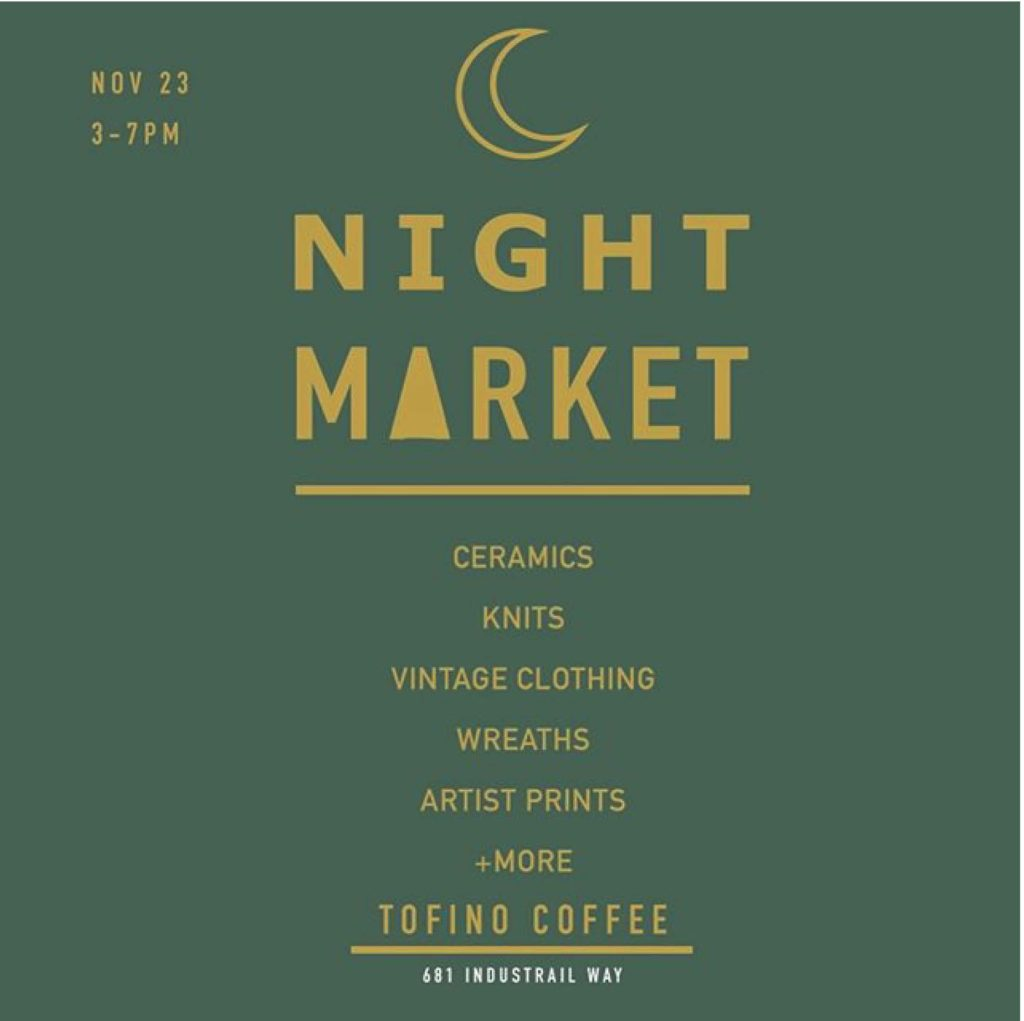 Poster for Night Market in Tofino November 30