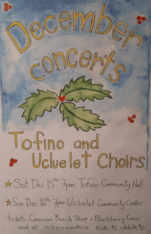 Tofino Choir poster December 15, 2018