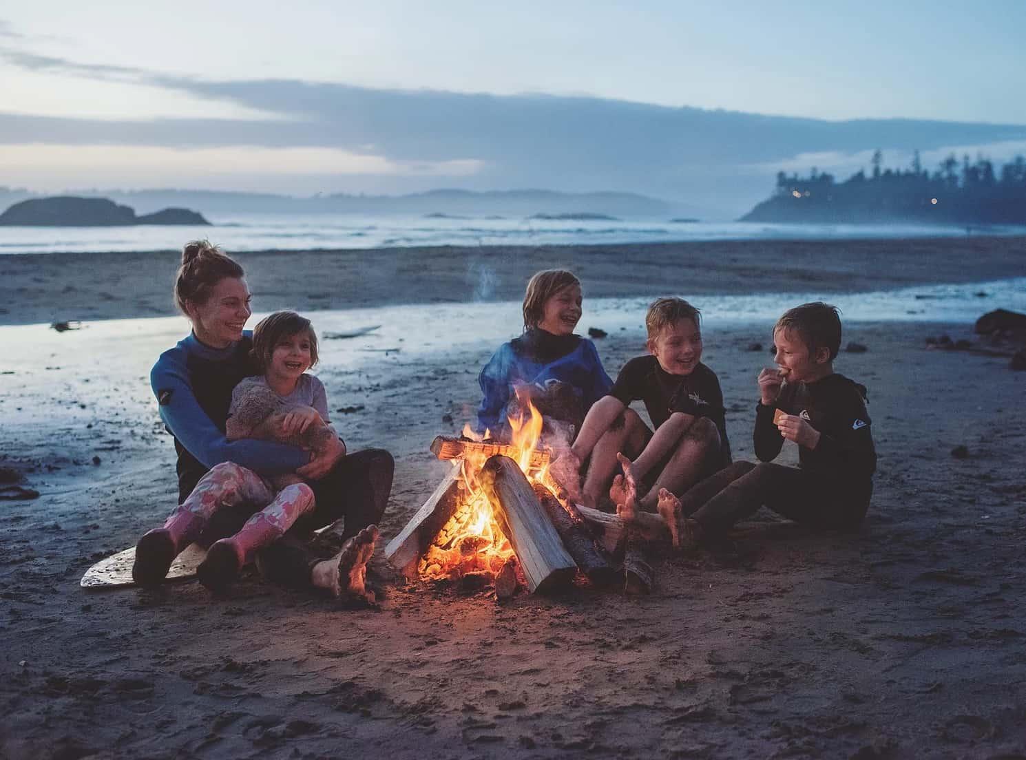 beach fire Tofino