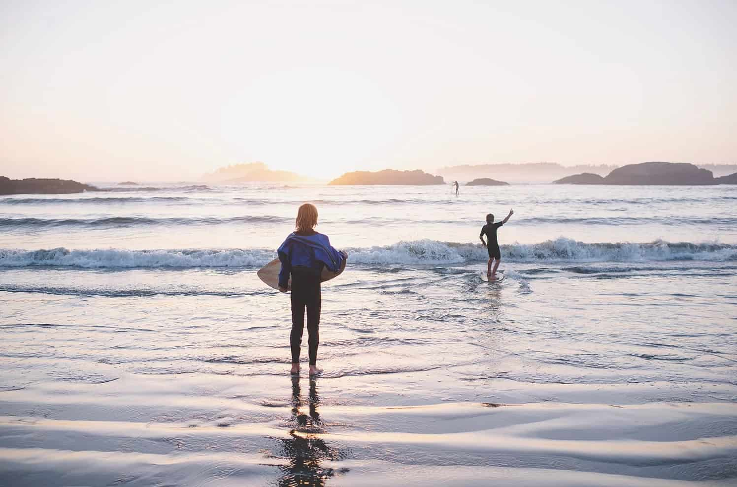 surf in Tofino with kids